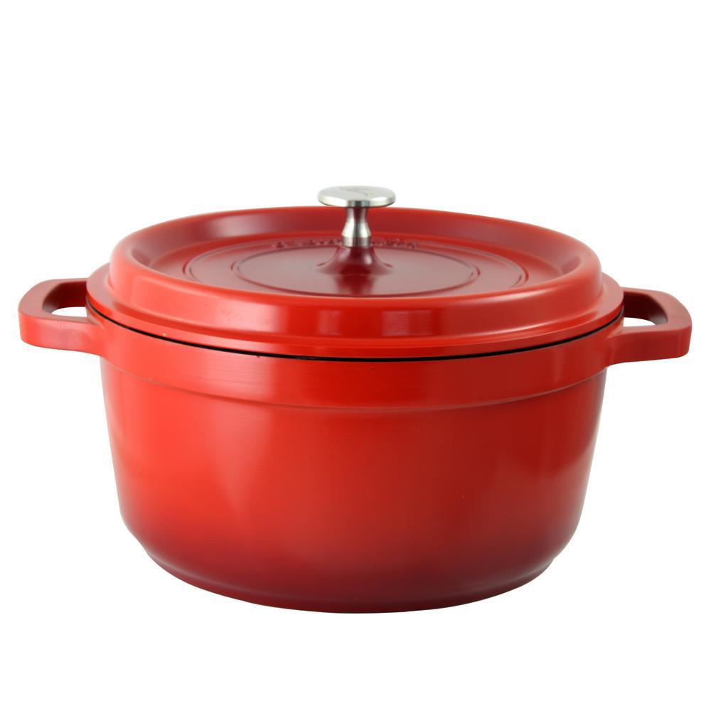 Crock-Pot Edmound 5 Qt. Cast Aluminum Dutch Oven With Lid