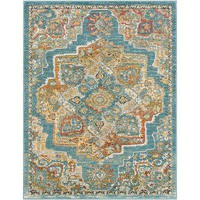 Caius Yellow 5 ft. 3 in. x 7 ft. 3 in. Oriental Area Rug