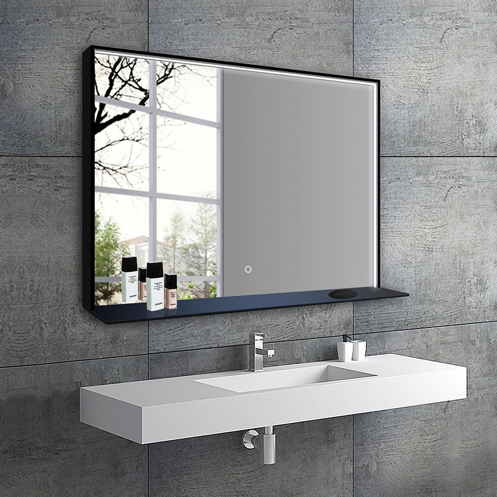 Bathroom Mirrors.Dreamwerks 40 In X 24 In Led Lighted Bathroom Mirror With Touch
