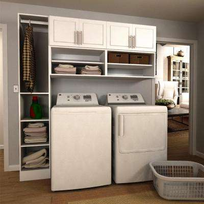 Madison 75 in. W White Open Shelves Laundry ...