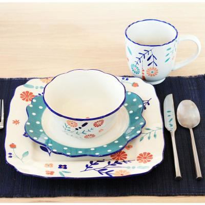 Blossoming Floral 16-Piece Dinnerware Set