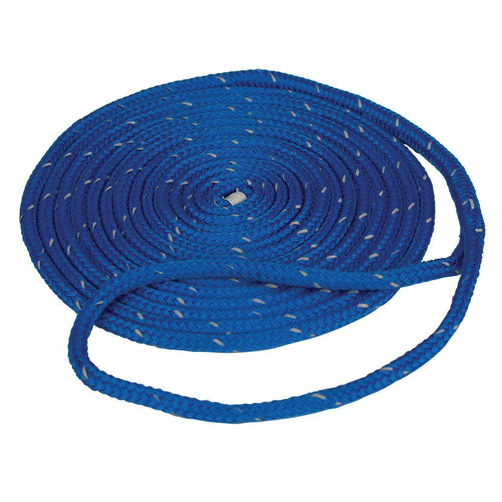 """Double Braided 3//8/"""" x 35 FT Boat Marine Nylon Dock Lines Mooring Rope 6 Colors"""