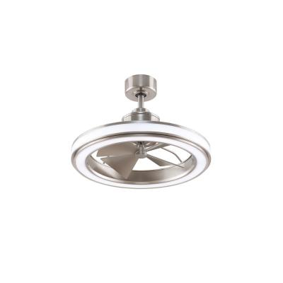 Gleam 16 in. Integrated LED Indoor/Outdoor Brushed Nickel Ceiling Fan with Light Kit and Remote Control