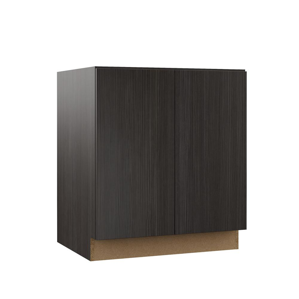 Fine Hampton Bay Designer Series Edgeley Assembled 30X34 5X21 In Full Door Height Bathroom Vanity Base Cabinet In Thunder Interior Design Ideas Ghosoteloinfo