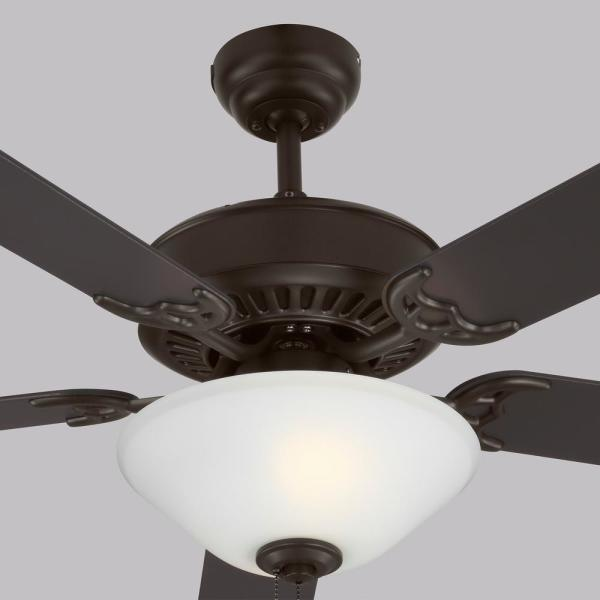 Monte Carlo Haven Led 2 52 In Indoor Bronze Ceiling Fan With Light Kit 5hv52bzd The Home Depot
