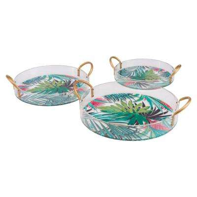 Tropical Multicolor Trays (Set of 3)