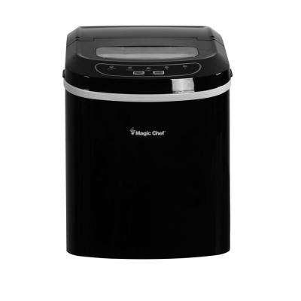 27 lb. Portable Countertop Ice Maker in Black
