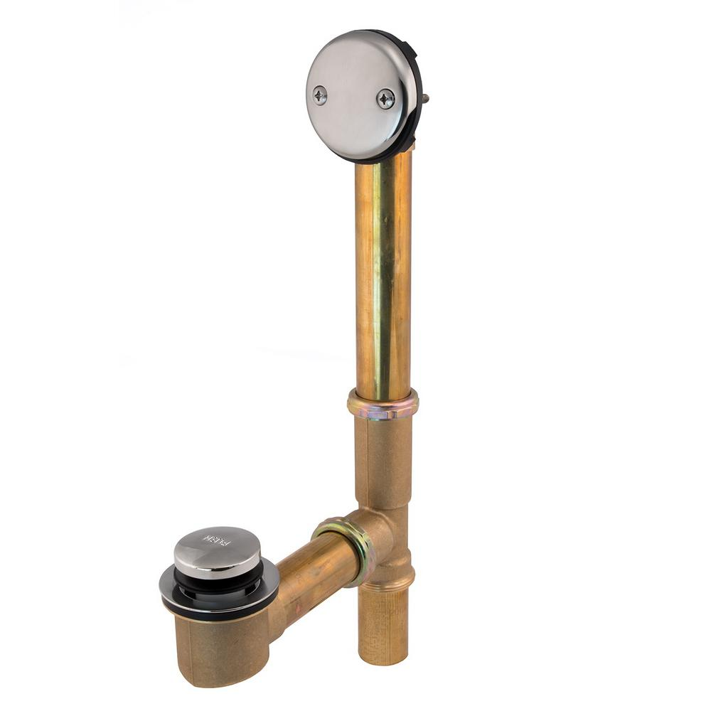 Easy Touch 1-1/2 in. 20-Gauge Brass Pipe Bath Waste and Overflow