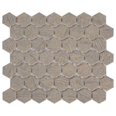 Glenwood Fog 10 in. x 12 in. x 6.35mm Glazed Ceramic Mosaic Tile