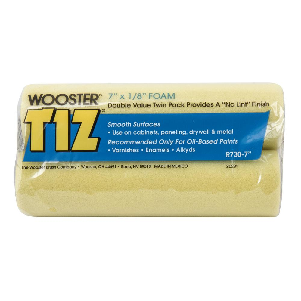 Wooster 7 in. x 1/8 in. Tiz Foam Roller Cover (2-Pack)