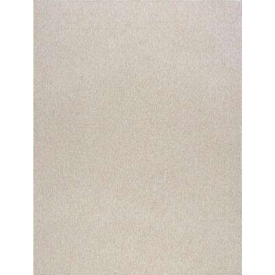 Serenity Cream 7 ft. 9 in. x 10 ft. Modern Area Rug