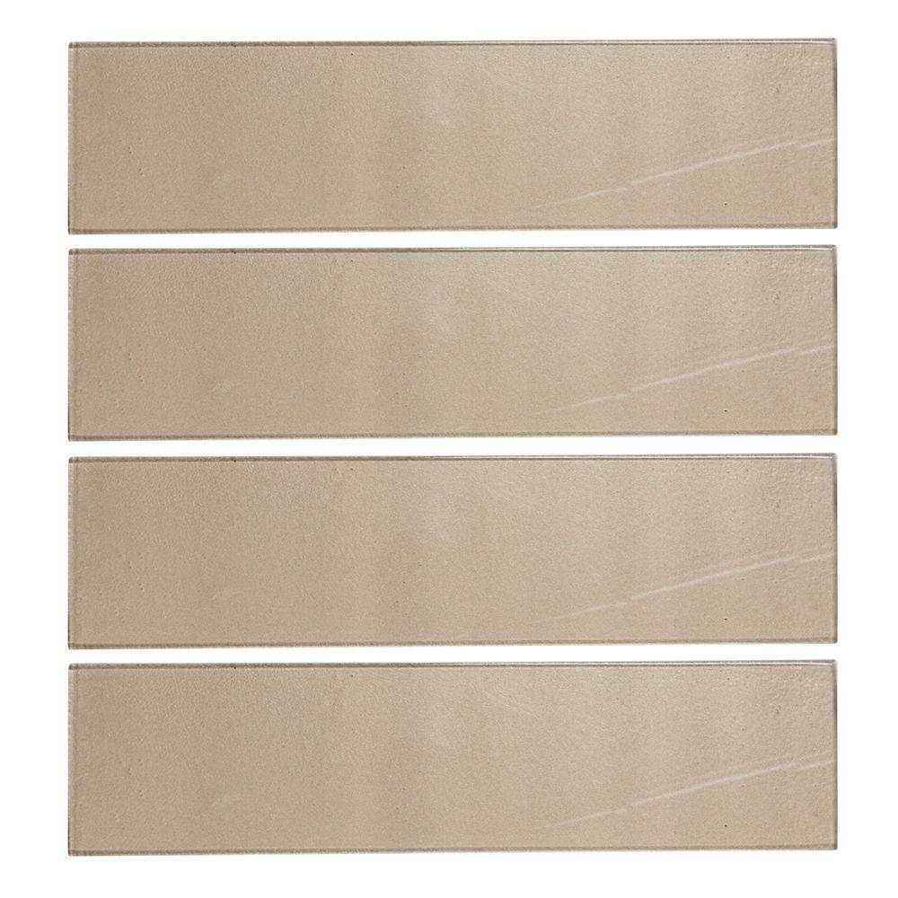 Aluminum 4 in. x 16 in. Glass Wall Tile (10.56 sq.
