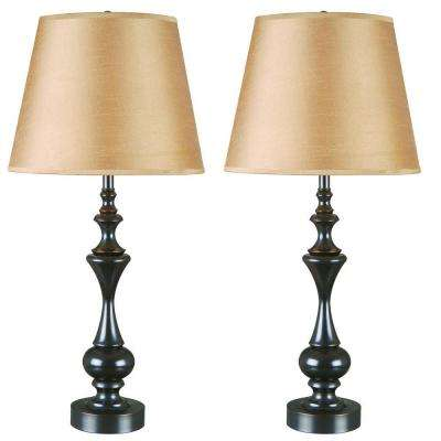 Oil Rubbed Bronze Table Lamp Set 2 Pack