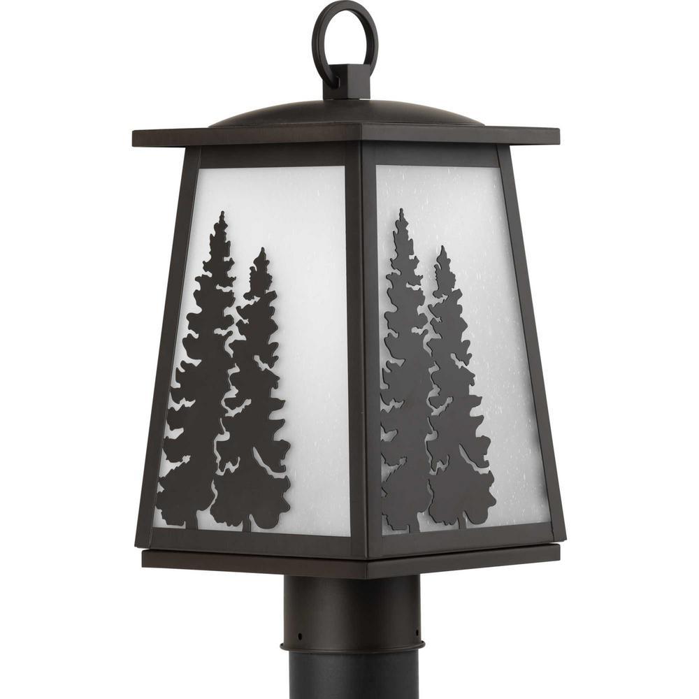 Torrey Line Voltage 1-Light Black 4x4 Deck Post Light Post Lantern