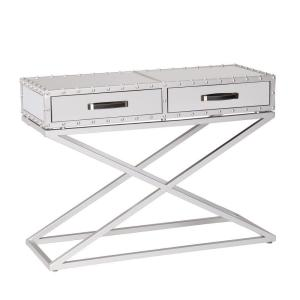 Harry Matte Silver Mirrored Console Table