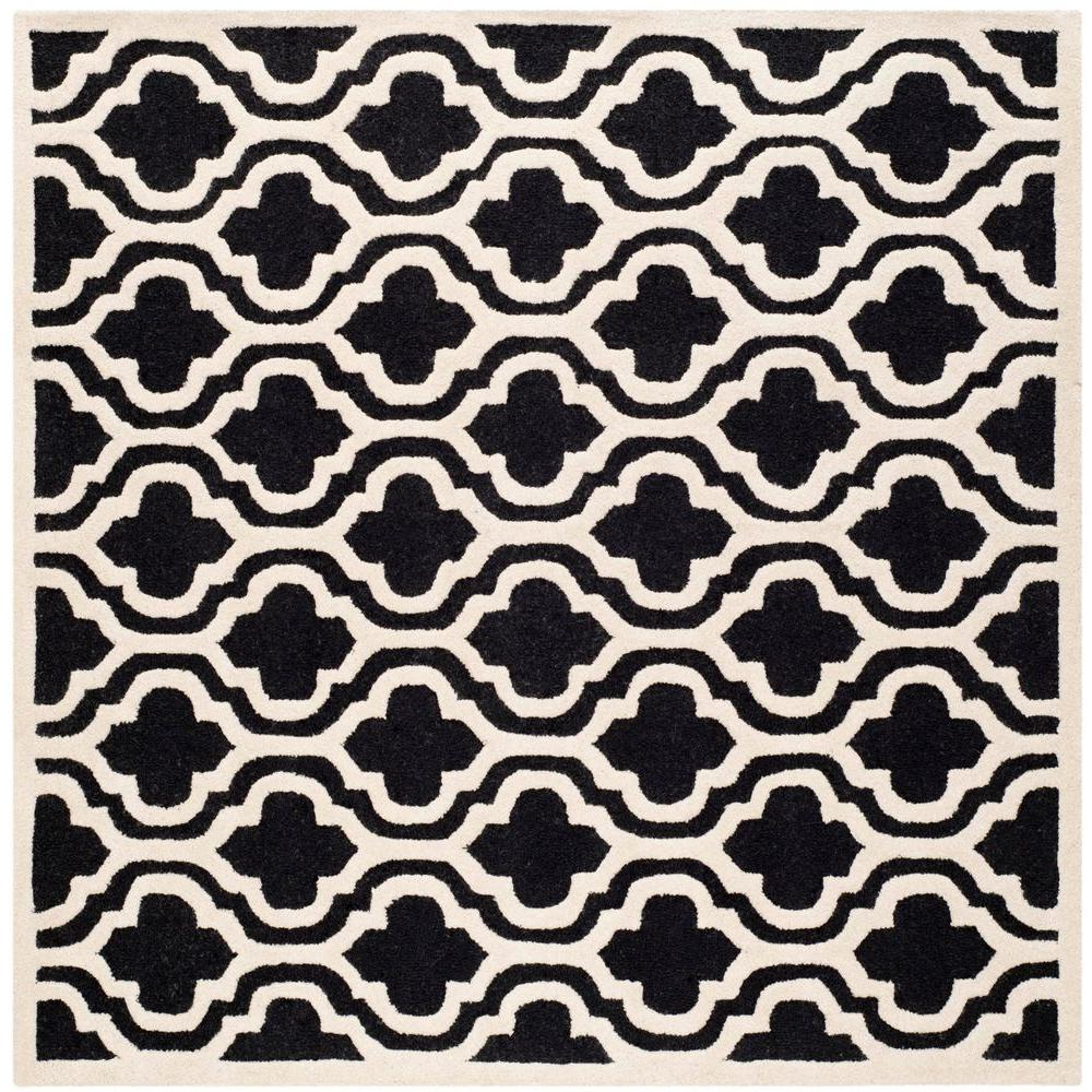 Cambridge Black/Ivory 6 ft. x 6 ft. Square Area Rug