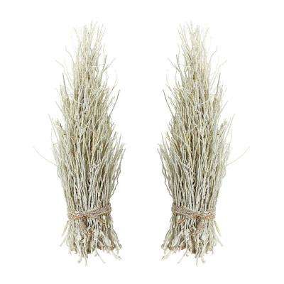 White Washed Decorative Coco Twig Sheaf (2-Pack)
