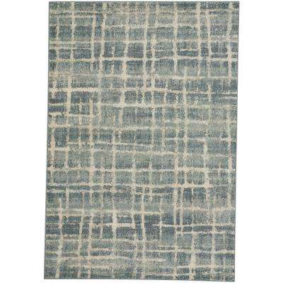 Jacob-Mirage Azure 2 ft. 7 in. x 4 ft. 7 in. Area Rug