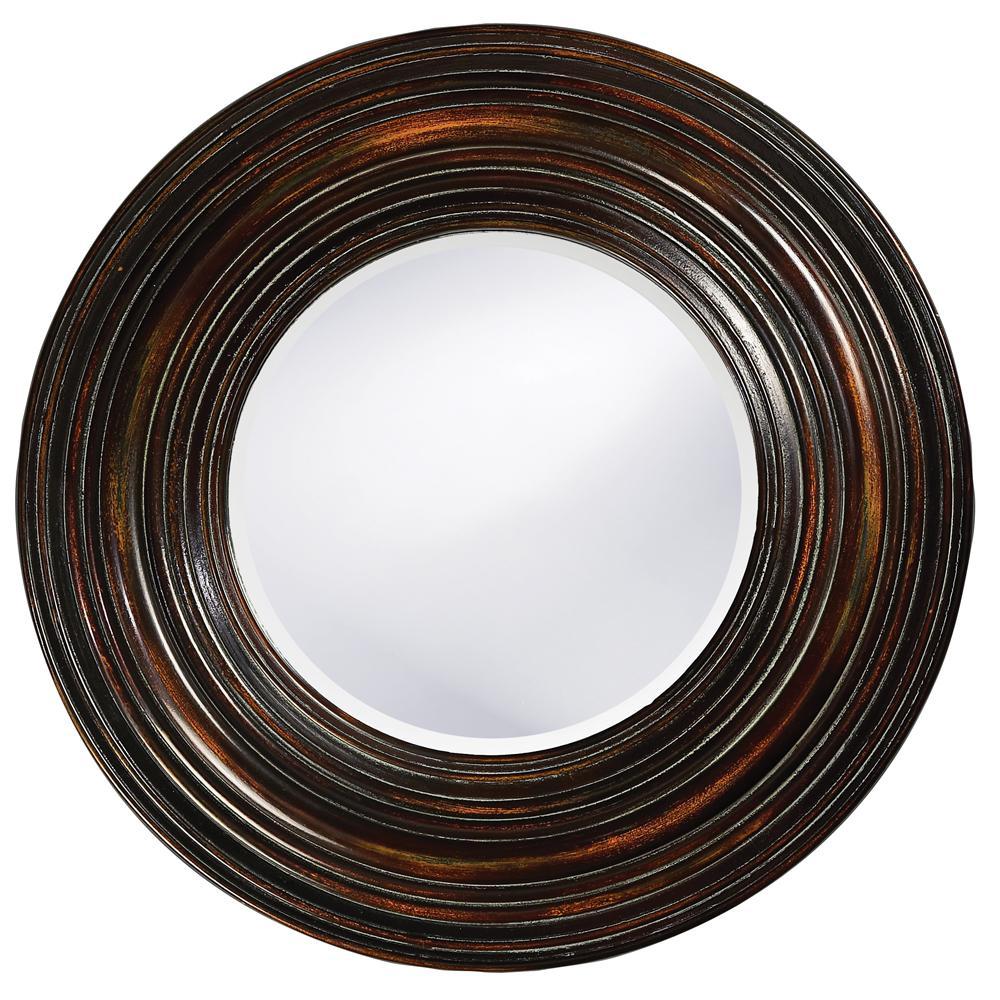 null 38 in. x 38 in. Round Framed Mirror