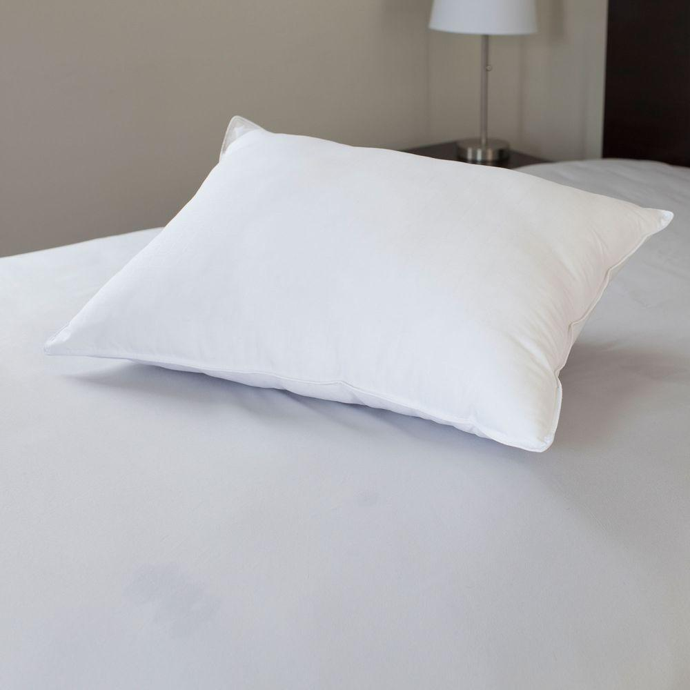 Feather Down Pillow King Size 100 Cotton Cover Luxury