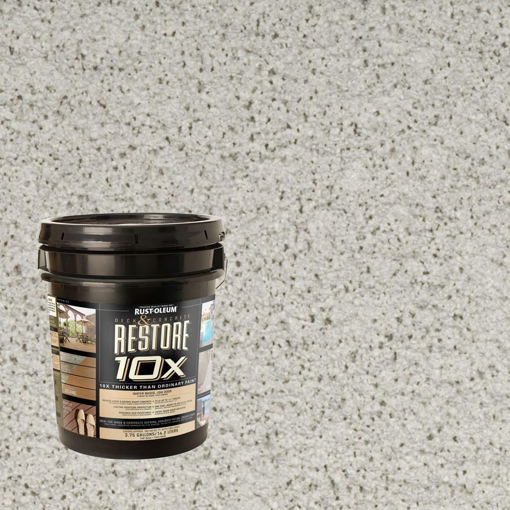 Rust-Oleum Restore 4-gal. Cape Cod Gray Deck and Concrete 10X Resurfacer