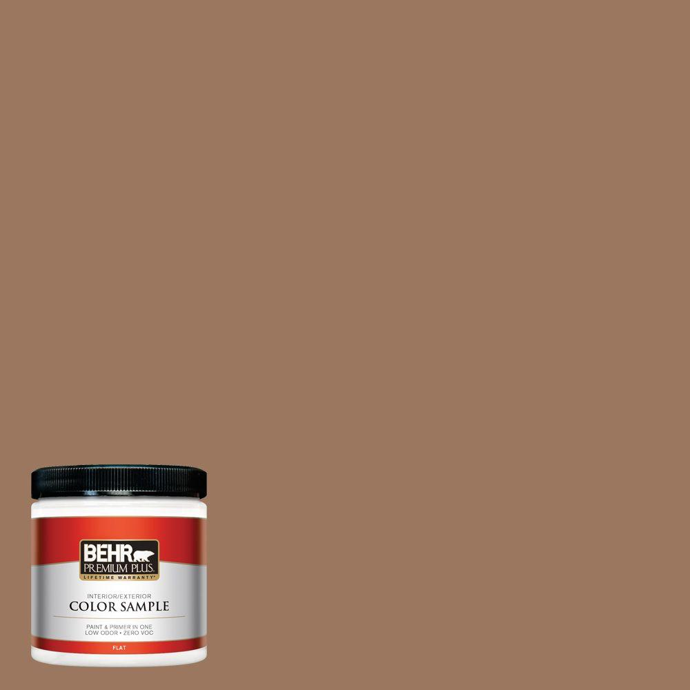 What Color Is Sienna >> Behr Premium Plus 8 Oz S220 6 Baked Sienna Flat Interior Exterior Paint And Primer In One Sample