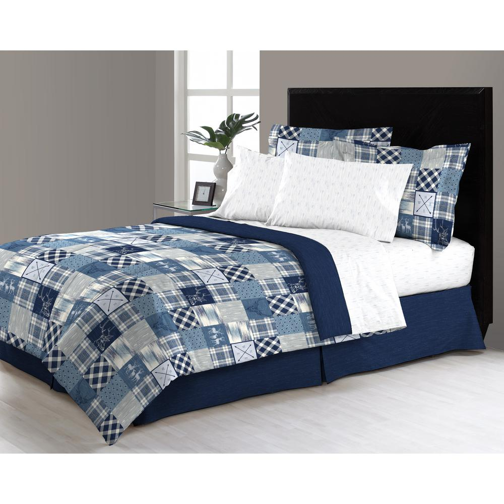 Twin Bedroom Set 6 Piece Solid Wood Pine: Wycombe 6-Piece Twin Bed In A Bag Comforter Set-M561412