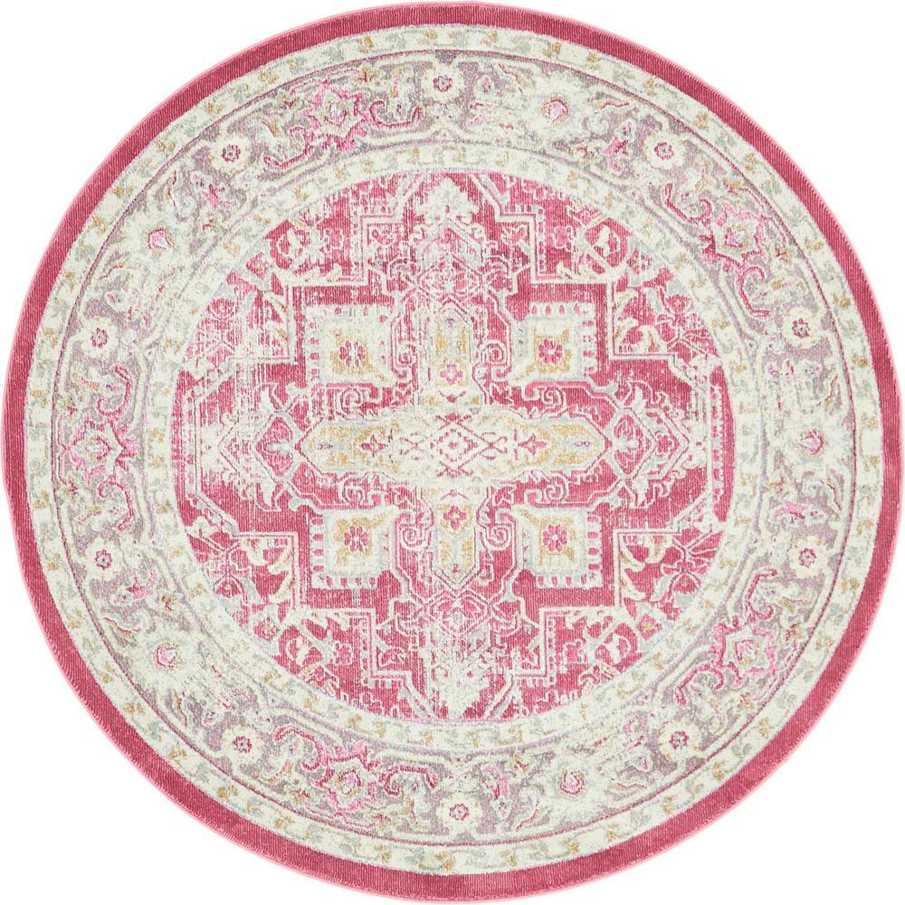 Baracoa Prado Pink 5' 5 x 5' 5 Round Rug