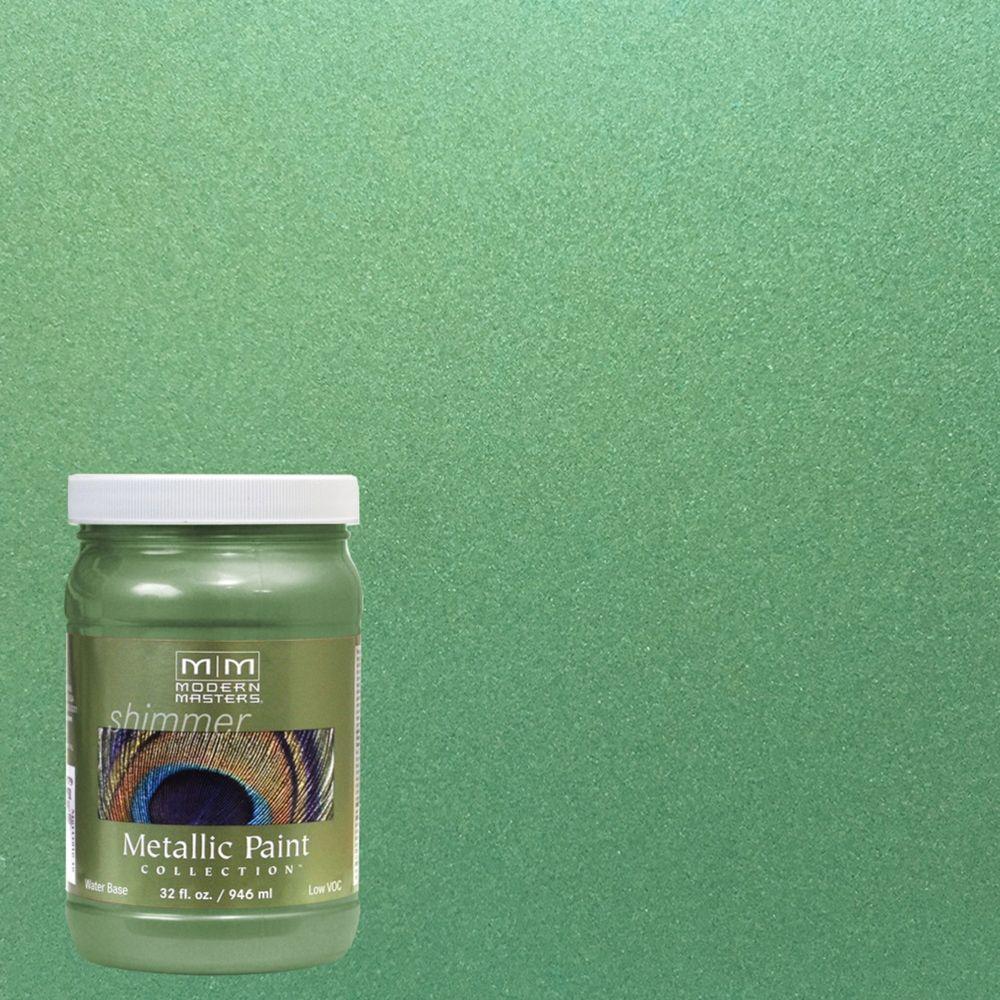 1 qt. Mystical Green Metallic Interior/Exterior Paint