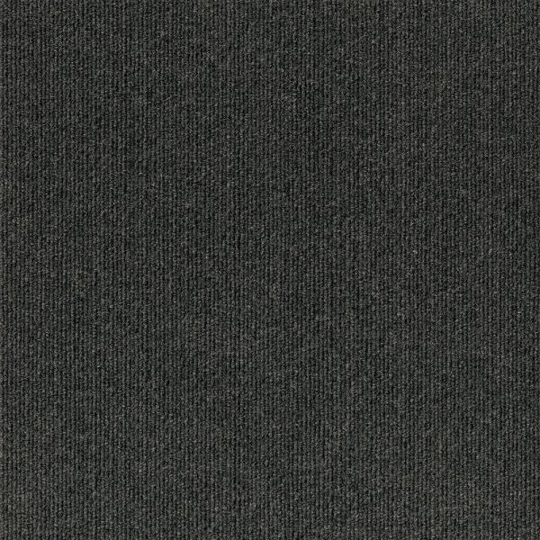 Peel and Stick Inspirations Black Ice Ribbed 18 in. x 18 in. Residential Carpet Tile (16 Tiles/Case)
