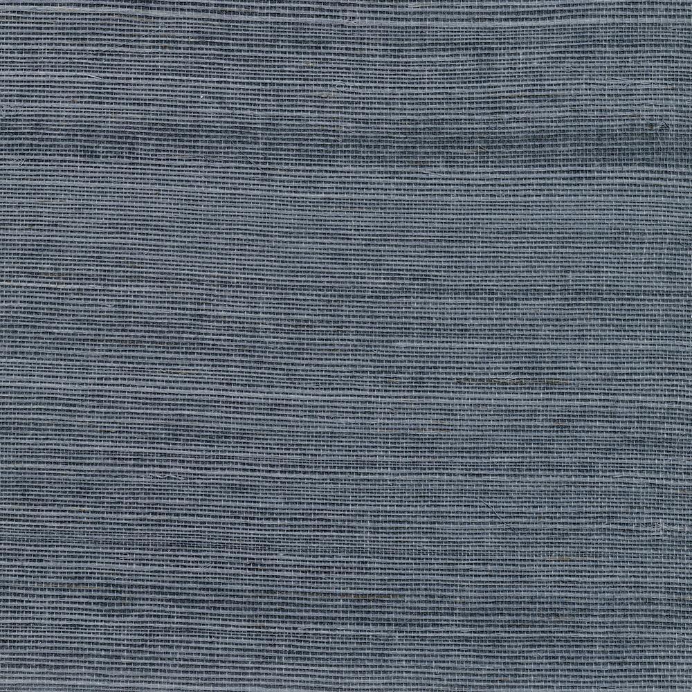8 in. x 10 in. Victoria Indigo Grass Cloth Wallpaper Sample