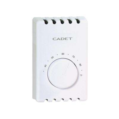 Single-Pole 22 Amp 120/240-Volt Wall-Mount Mechanical Non-programmable Thermostat in White
