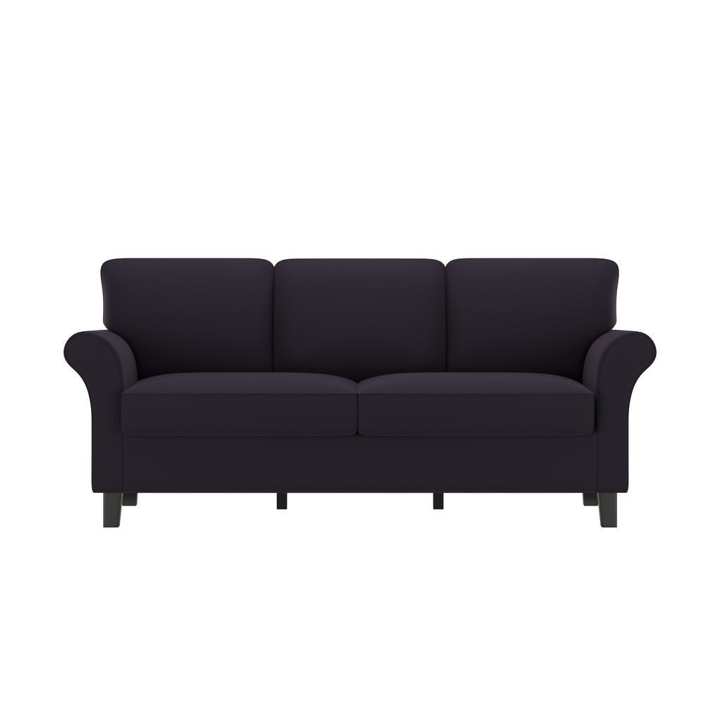 Handy Living Rockford Sofast Sofa In Purple Velvet Rkf Sx