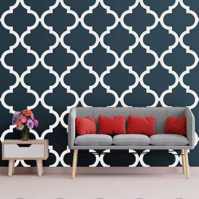 3/8 in. x 23-3/4 in. x 23-3/4 in. Large Marrakesh White Architectural Grade PVC Decorative Wall Panels