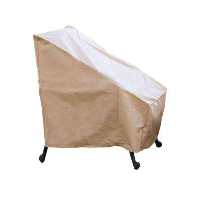 Polyester High-Back Patio Chair Cover with PVC Coating