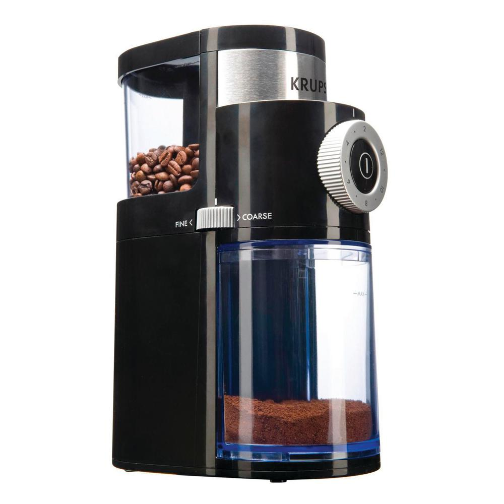 Krups Coffee Grinder Santa Fe Gvx2 Daftar Harga Terlengkap Indonesia Welhome Zd 10 Conical Burr With Timer Black Flat Gx500050 The