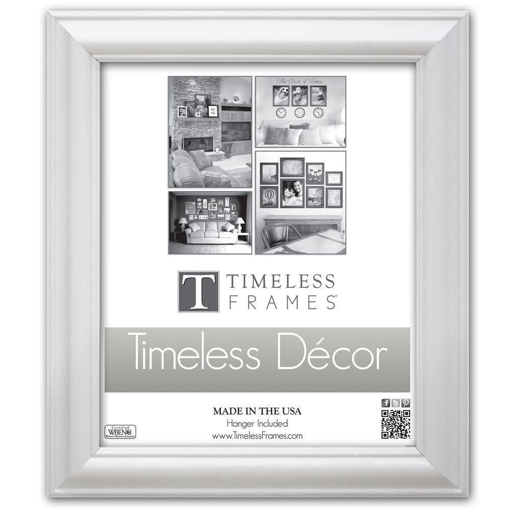 Timeless Frames Brenna 1-Opening 10 in. x 13 in. White Picture Frame