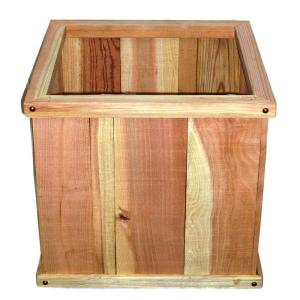 18 in. x 18 in. Redwood Window Box