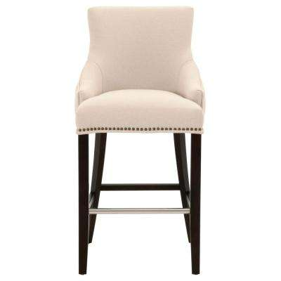 Avenue 30 in. Jute Fabric, Espresso Bar Stool