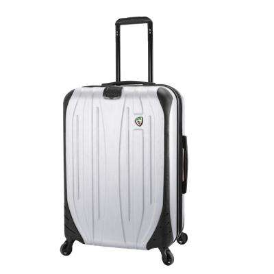 Compaz 28 in. White Hardside Spinner Suitcase