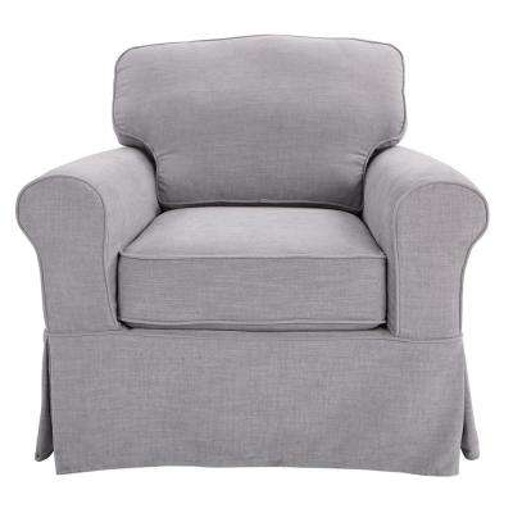 Ashton with Fog Slip Cover Chair