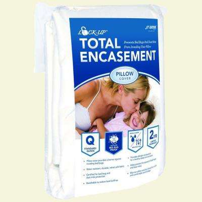 Lock-Up Standard Size Total Pillow Encasement for Bed Bug Protection