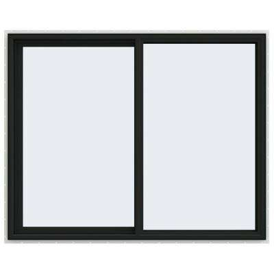 60 in. x 48 in. V-4500 Series Bronze FiniShield Vinyl Left-Handed Sliding Window with Fiberglass Mesh Screen