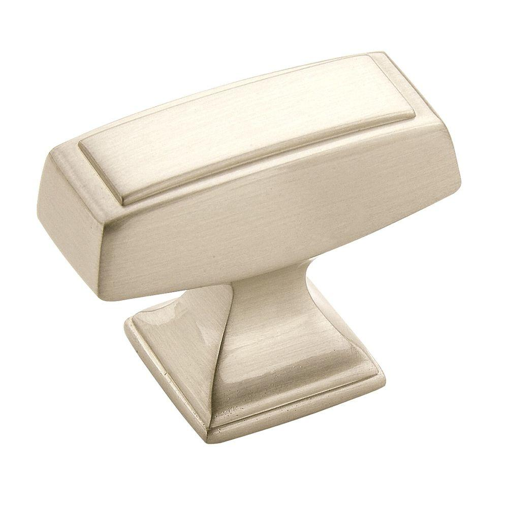 Mulholland 1-1/2 in. Satin Nickel Square Cabinet Knob