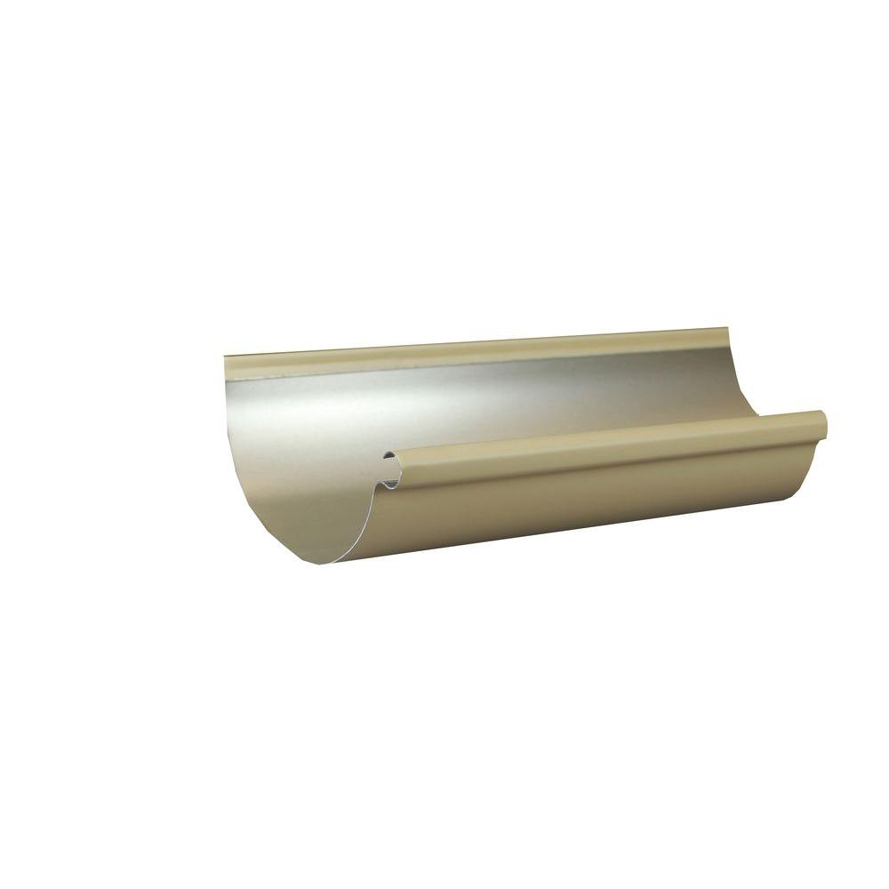 6 in. x 10 ft. Half Round Antique Ivory Aluminum Gutter