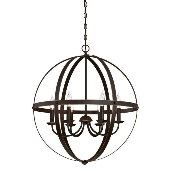 Stella Mira 6-Light Oil Rubbed Bronze with Highlights Chandelier