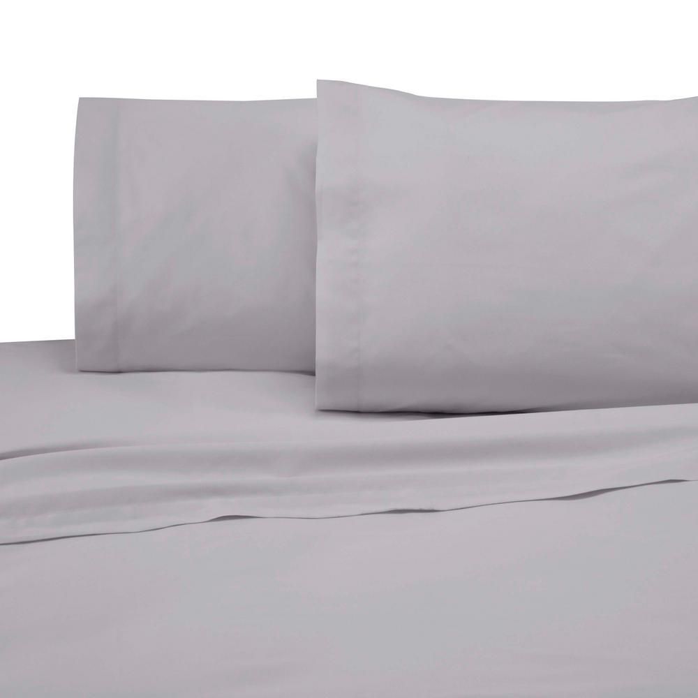 Martex 225 Thread Count Graphite Cotton Twin Sheet Set 028828991775