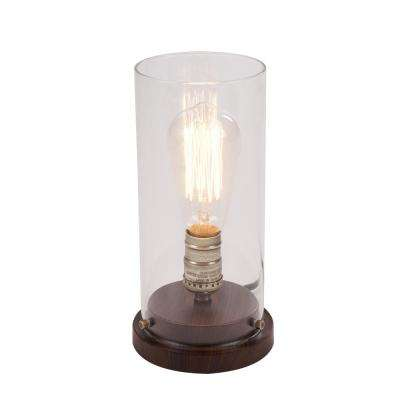 10 in. LED Faux Wood Vintage Uplight Lamp