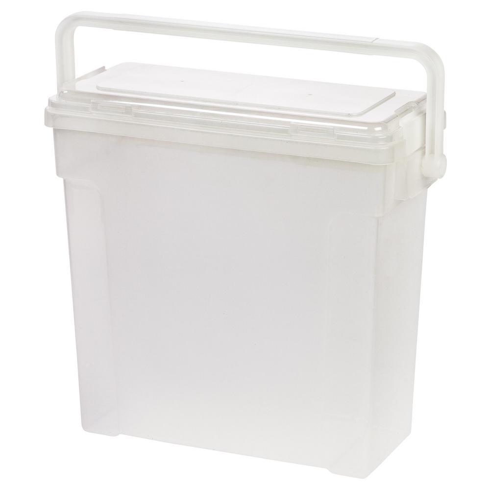 Portable Scrapbook File Box, Clear