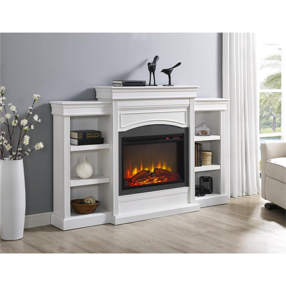 Electric Fireplace Heaters Home Depot: Ameriwood Lamont Mantel Fireplace In White-1815096COM